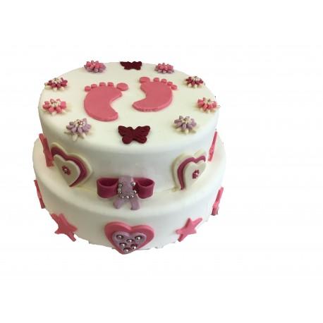 Baptême Cake Fille à partir de 8 pers
